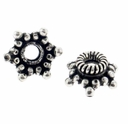 Bali 7mm Coil 6 Point Star Sterling Silver Bead Cap (1PC)