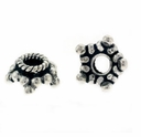 10mm Bali Star Sterling Silver Bead Cap (1PC)