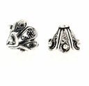 7 x 9mm Bali Style Filigree Sterling Silver Bead Cap (1PC)