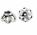 6mm Bali Style Sterling Silver Bead Cap (1PC)