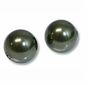 12mm Dark Green Swarovski 5810 Crystal Pearls (1PC)