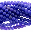 Rec. Blueberry Chalcedony 6mm Round Beads 16 inch Strand
