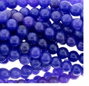 Rec. Blue Berry Chalcedony 8mm Round Beads 16 inch Strand