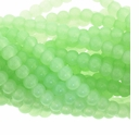 Lt. Green Rec. Chalcedony 4mm Round Beads 16 inch Strand