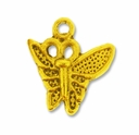 Antiqued Gold Plated 15x12 mm Butterfly  Charm (1PC)