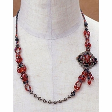 TOHO Necklace Kit Asymmetric Ruby