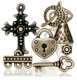 Brass Oxide Pewter Beads Charms and Jewelry Findings