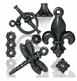Black Finish Pewter Beads Charms and Jewelry Findings