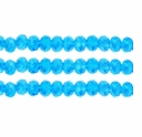Aqua  AB 3x4mm Faceted  Crystal  Rondelle Beads 11.8 Inch Strand
