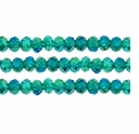 Emerald AB 3x4mm Faceted  Crystal  Rondelle Beads 11.8 Inch Strand