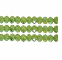 Olivine AB 3x4mm Faceted  Crystal  Rondelle Beads 11.8 Inch Strand