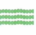 Opaque Milky Peridot AB 3x4mm Faceted  Crystal  Rondelle Beads 11.8 Inch Strand