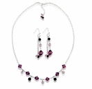 Swarovski Magical Amethyst Necklace and Earrings
