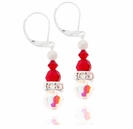 Swarovski Crystal Santa Earring Design Kit