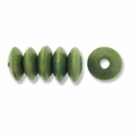 Green 9x5mm Saucer Wood Beads (50PK)