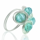 Aquamarine Swirl Wire-Wrapped Ring