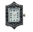 Marcasite Rectangle Watch Face