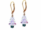 Swarovski Crystal AB Christmas Tree Earring Kit