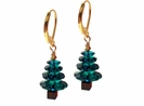 Swarovski Crystal  Emerald  Christmas Tree Earring Kit