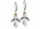 Silver Majestic Crystal  Angel Earring Design Kit