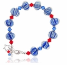Stars and Stripes Forever  Bracelet Jewelry Kit