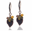 Autumn Leaves and Swarovski Earring Kit