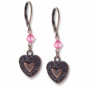 Antiqued Copper Ornate Heart Earring Design Kit