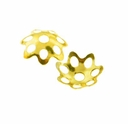 Gold Plated 5mm Filigree Bead Caps (100PK)