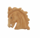 Hand Carved Bone 25mm Mustang Horse Head Bead (1PC)