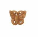 Hand Carved Bone 18mm Butterfly Bead (1PC)