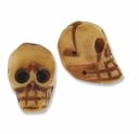13-15mm Skull Bone Bead Hand carved (1PC)