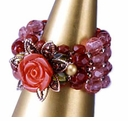 TOHO Elegant Jewelry Kits Coral Rose Ring