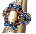 TOHO Elegant Jewelry Kits Cat's Eye Multicolor Ring