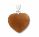 Red Adventurine 20mm Heart Gemstone Pendant