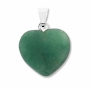 Green Aventurine 20mm Heart Gemstone Pendant