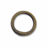 Antiqued Brass 7mm Closed  Jump Rings 20GA (25PK)