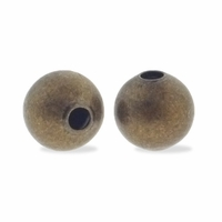 Antiqued Brass 6mm Seamed Round Bead (50PK)