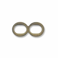 Antiqued Brass Double Eye (1PC)