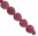 10mm Rhodonite Heart Beads 16 Inch strand