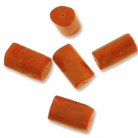 Extra Large Orange Coral 17-30mm Tube Beads (5PK)