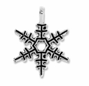 Antiqued Silver 18mm Snowflake Charms (10PK)