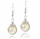 Herringbone Wire Wrapped Pearl Earring Design Kit