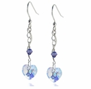 Sterling Silver Swarovski Crystal AB Heart Earring Design Kit