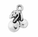 Antiqued Silver 17mm Cherries Charms (10PK)