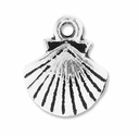 Antiqued Silver 14mm Clam Shell Charms (10PK)