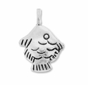 Antiqued Silver 15mm Thai Fish Charms (10PK)