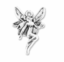 Antiqued Silver Fairy Charm (10PK)