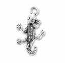 Antiqued Silver 24mm Lizard Charm (10PK)