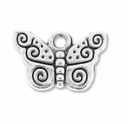Antiqued Silver Butterfly Charm (10PK)