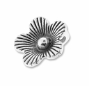Antiqued Silver Thai Style 14mm Flower Charm (10PK)